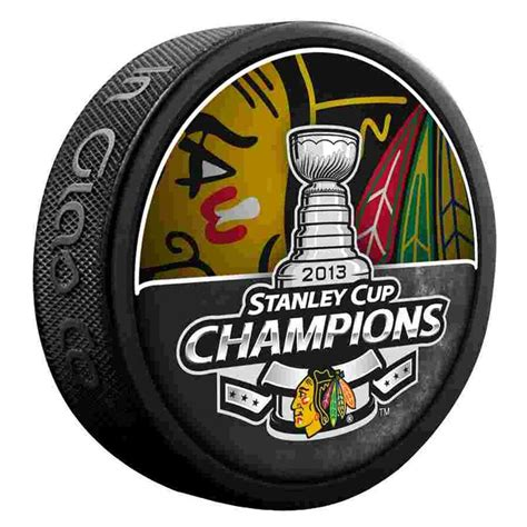 2013 Stanley Cup Champions Puck