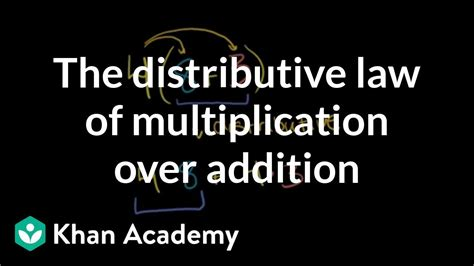 The distributive law of multiplication over addition   Pre