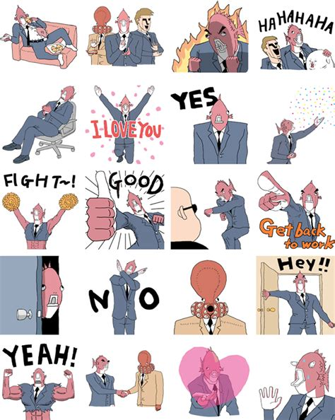 Executive Business Fish - Facebook Stickers