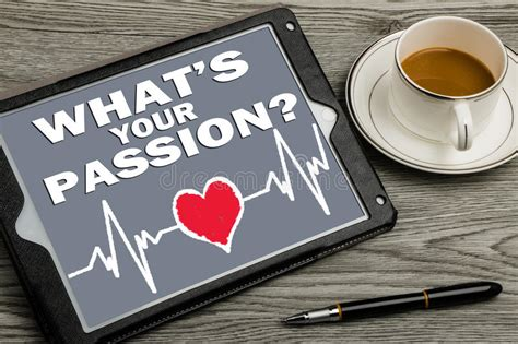 Whats your passion stock photo