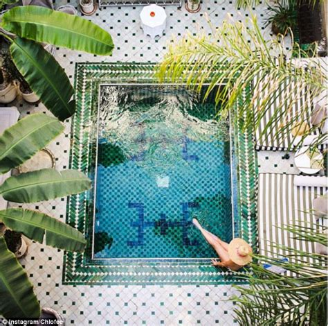 Marrakech hotel has a plaunge pool Instagram bloggers can