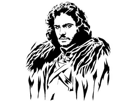 Jon Snow stencil by Longquang - Thingiverse
