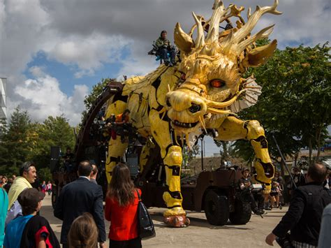 Giant, fire-breathing animatronic dragon storms the