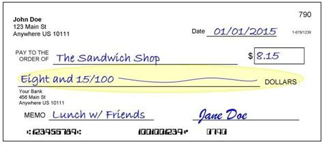 Learn How To Write A Check - Personal Finance Made Easy