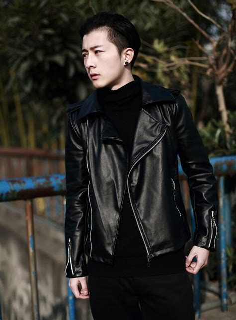 2015 Winter Jackets For Men Leather Clothing Korean Style