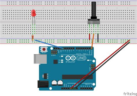 Arduino Starter's Guide (7/7): Potentiometer and LED