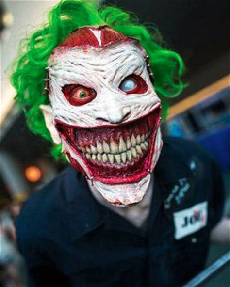 Insanely Creepy New 52 Joker Face Prosthetic and Makeup
