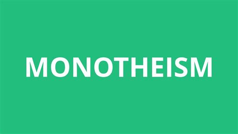 How To Pronounce Monotheism - Pronunciation Academy - YouTube