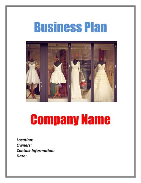 Retail Fashion Store Business Plan Template (Physical