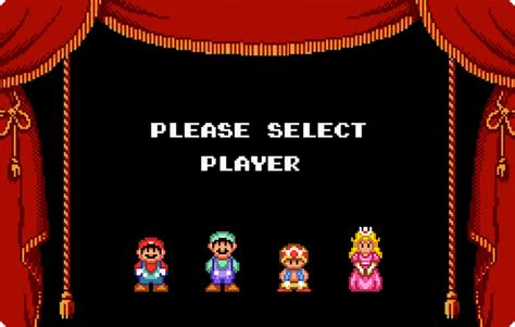 Super Mario Bros 2 - Select a Player by spidey0 on DeviantArt