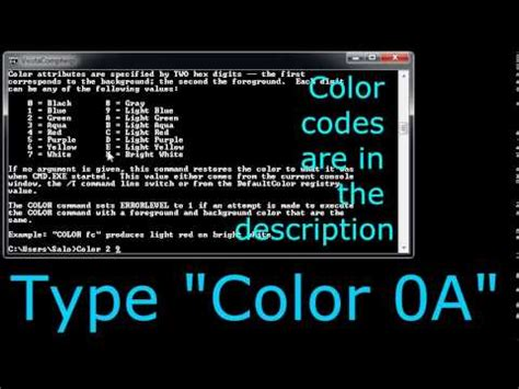 How to Change Title and Text Color in CMD Windows 7 Simple