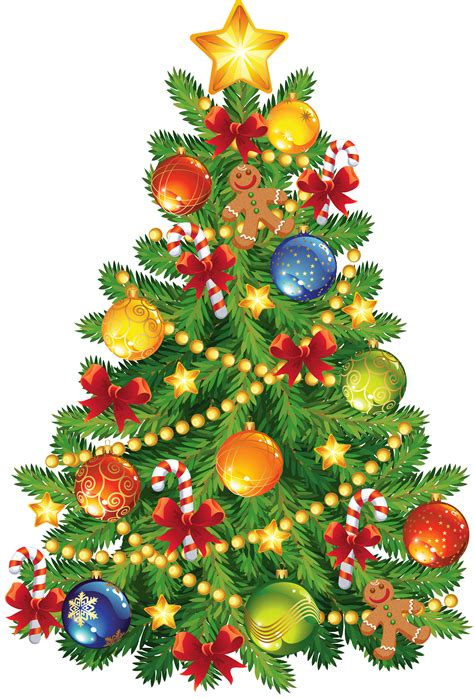 animated decorated christmas tree - Clip Art Library