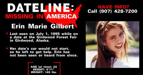 Sister seeks answers 24 years after Erin Marie Gilbert