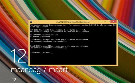 Special key sequence to run cmd at Windows lock screen